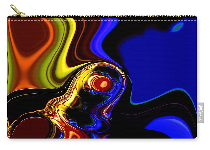 Abstract Carry-all Pouch featuring the digital art Abstract 7-26-09 by David Lane