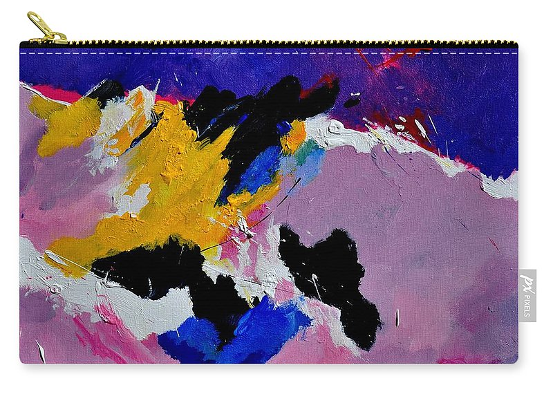 Abstract Carry-all Pouch featuring the painting Abstract 760170 by Pol Ledent