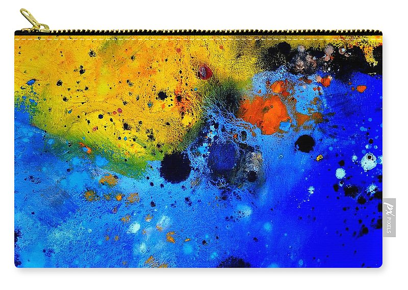 Abstract Carry-all Pouch featuring the painting Abstract 767b by Pol Ledent