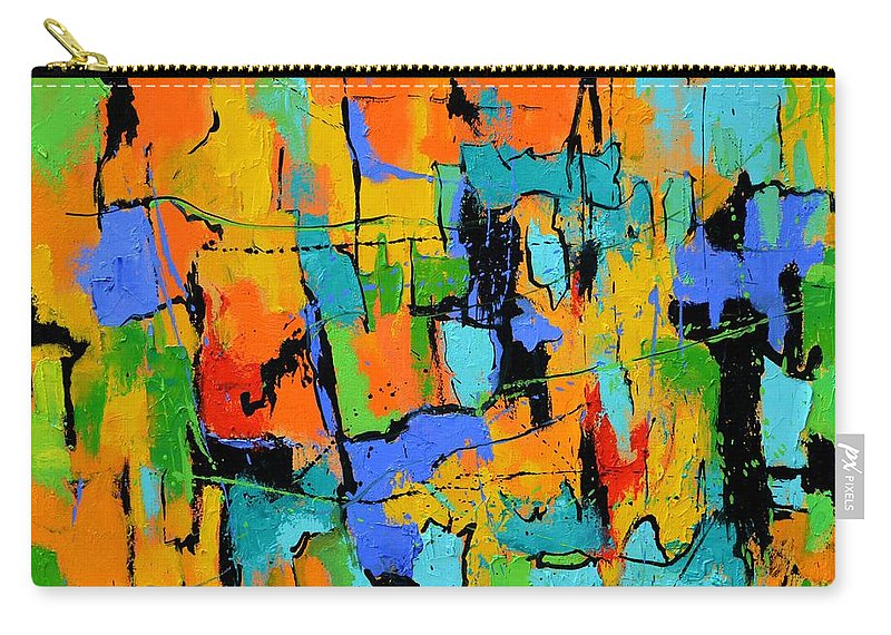 Abstract Carry-all Pouch featuring the painting Abstract 7761701 by Pol Ledent