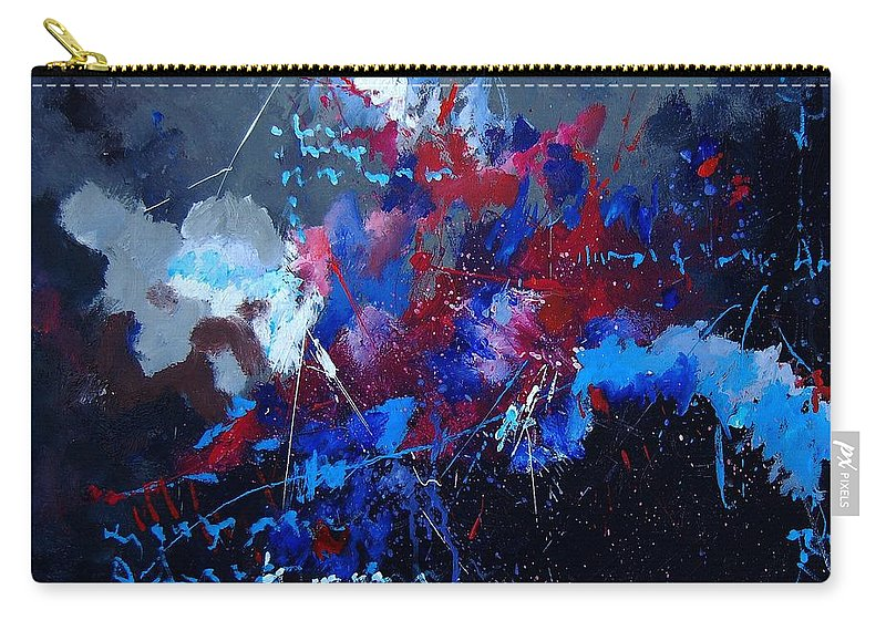Abstract Carry-all Pouch featuring the painting Abstract 77902171 by Pol Ledent