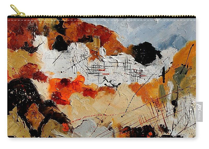 Abstract Carry-all Pouch featuring the painting Abstract 780708 by Pol Ledent