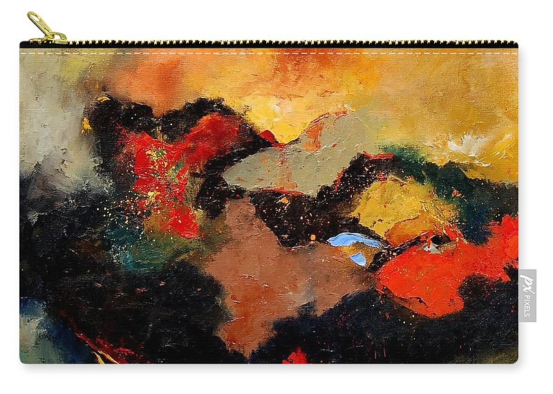 Abstract Carry-all Pouch featuring the painting Abstract 8080 by Pol Ledent