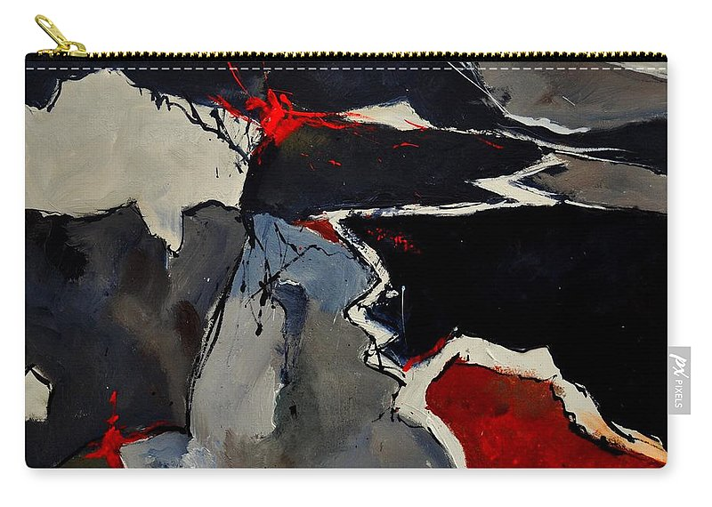 Abstract Carry-all Pouch featuring the painting Abstract 881110 by Pol Ledent