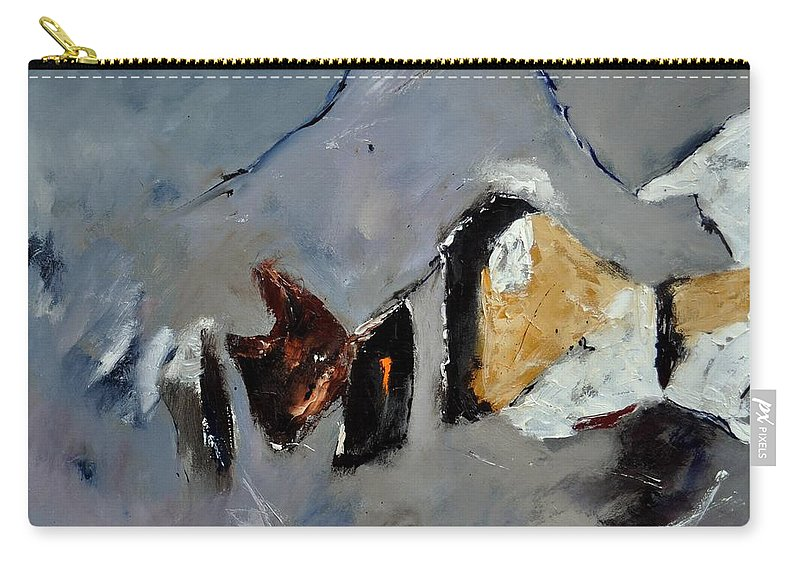 Abstract Carry-all Pouch featuring the painting Abstract 88112012 by Pol Ledent