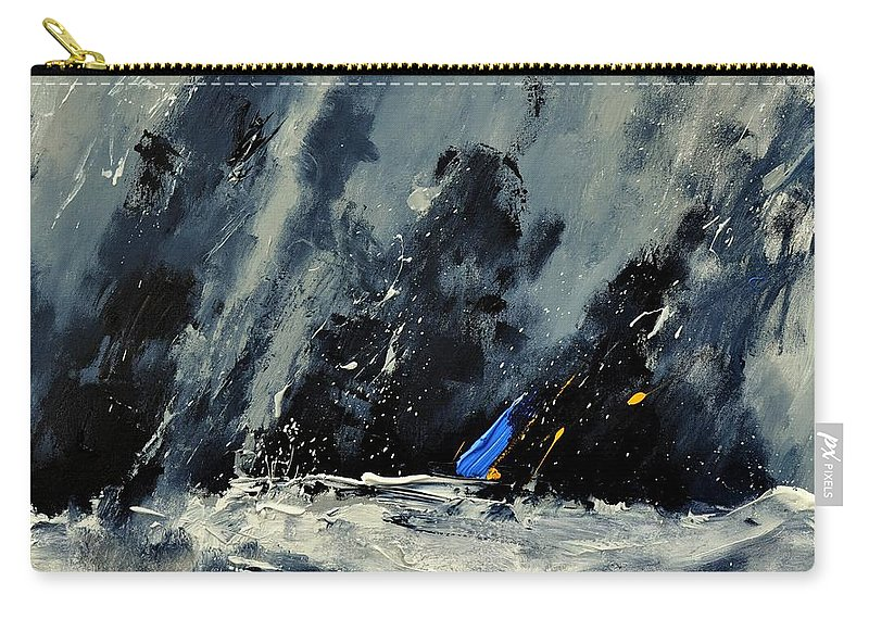 Abstract Carry-all Pouch featuring the painting Abstract 88114080 by Pol Ledent