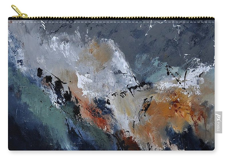 Abstract Carry-all Pouch featuring the painting Abstract 8821901 by Pol Ledent