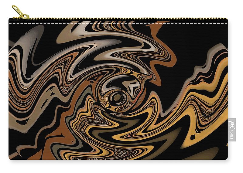Abstract Digital Painting Carry-all Pouch featuring the digital art Abstract 9-11-09 by David Lane