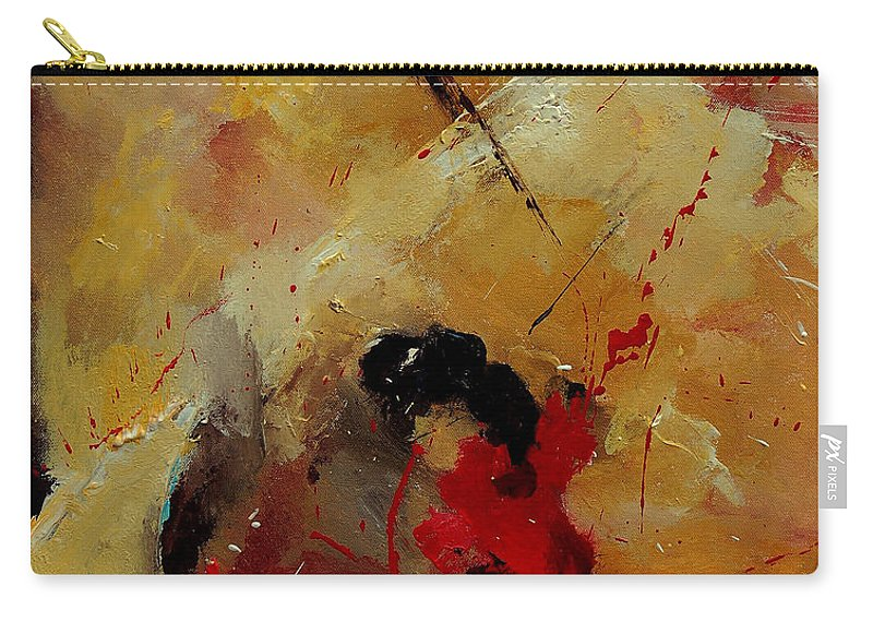 Abstract Carry-all Pouch featuring the painting Abstract 901156 by Pol Ledent