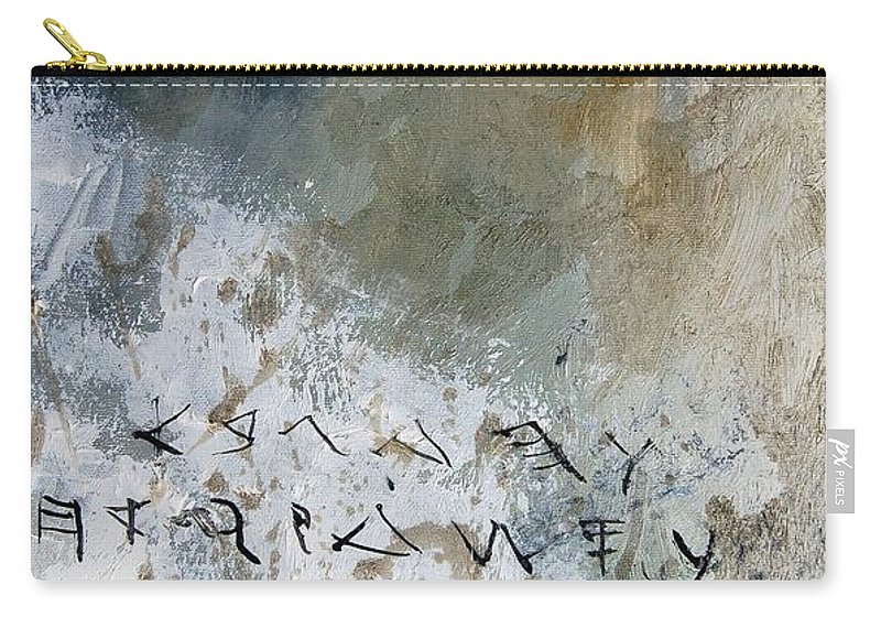 Abstract Carry-all Pouch featuring the painting Abstract 904023 by Pol Ledent