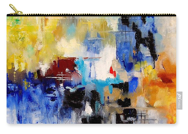 Abstract Carry-all Pouch featuring the painting Abstract 905003 by Pol Ledent