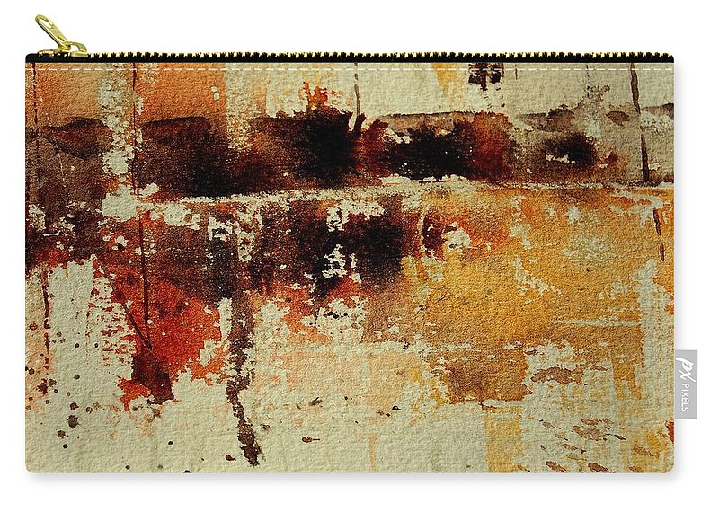 Abstract Carry-all Pouch featuring the painting Abstract 90801245 by Pol Ledent