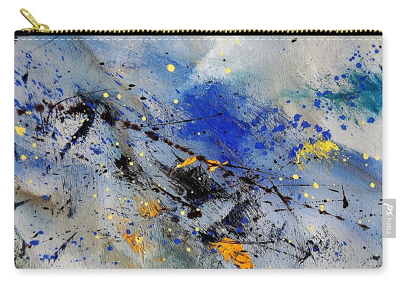 Abstract Carry-all Pouch featuring the painting Abstract 969090 by Pol Ledent