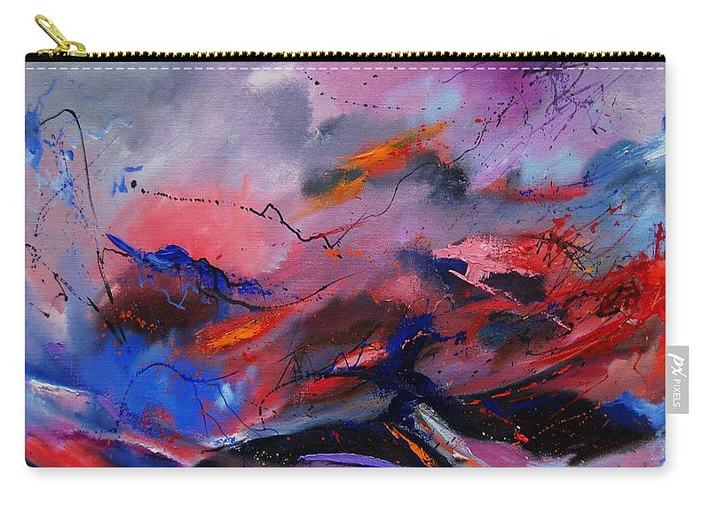 Abstract Carry-all Pouch featuring the painting Abstract 971260 by Pol Ledent