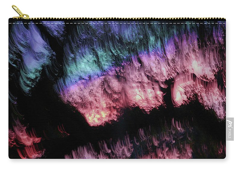 Abstract Carry-all Pouch featuring the digital art Abstract Accident by DigiArt Diaries by Vicky B Fuller