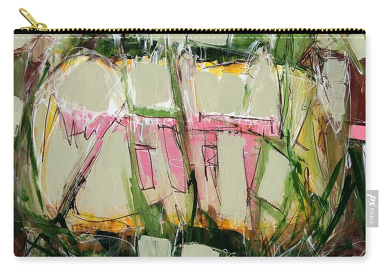 Abstract Carry-all Pouch featuring the painting Abstract Art Fifty-six by Lynne Taetzsch
