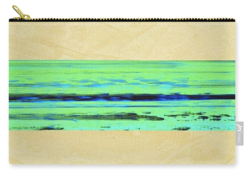 Beach Carry-all Pouch featuring the mixed media Abstract Beach Landscape by Corbin Henry