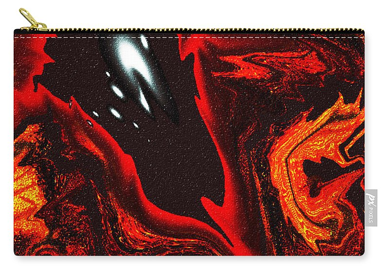 Abstract Design Carry-all Pouch featuring the digital art Digital Picture Abstract Bq151 by Oleg Trifonov