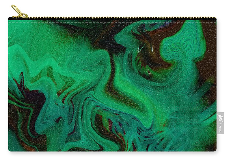 Abstract Design Carry-all Pouch featuring the digital art Digital Picture Abstract Bq166 by Oleg Trifonov