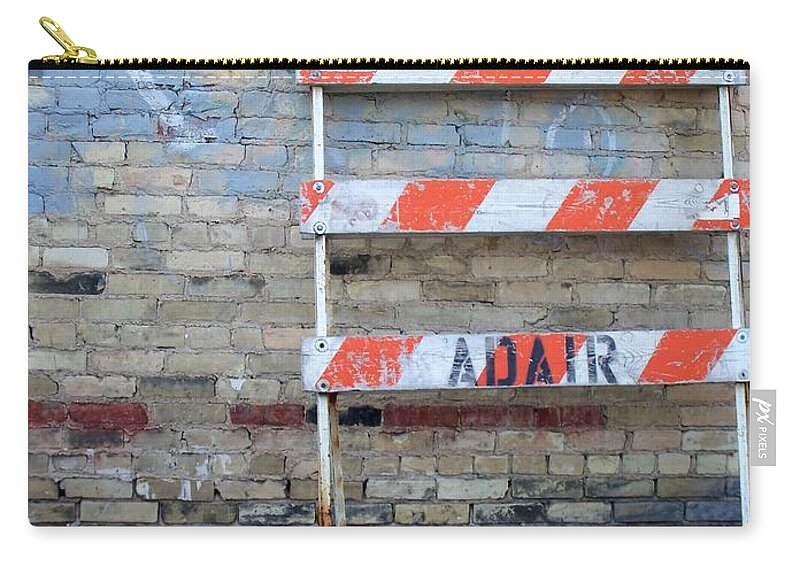 Industrial Carry-all Pouch featuring the photograph Abstract Brick 1 by Anita Burgermeister