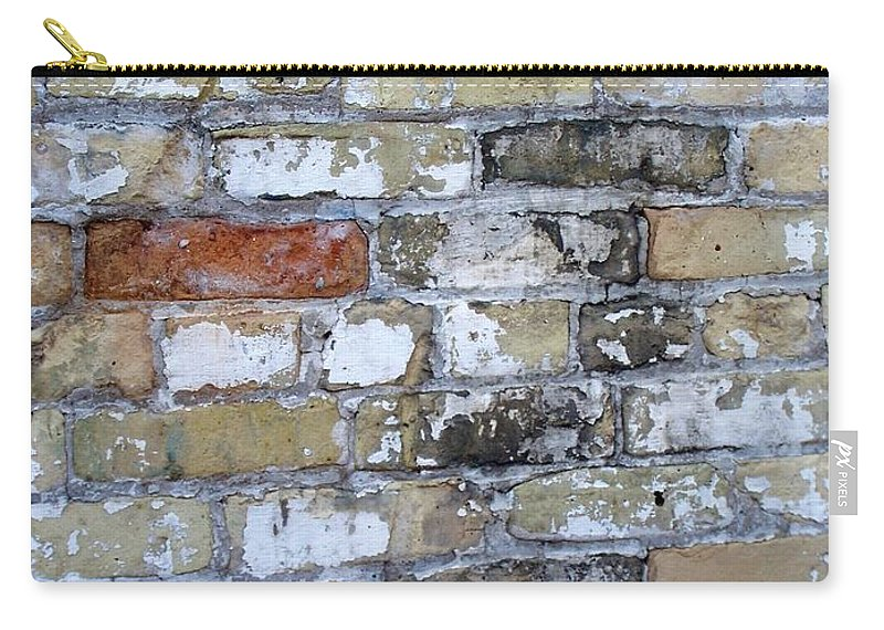 Industrial Carry-all Pouch featuring the photograph Abstract Brick 10 by Anita Burgermeister