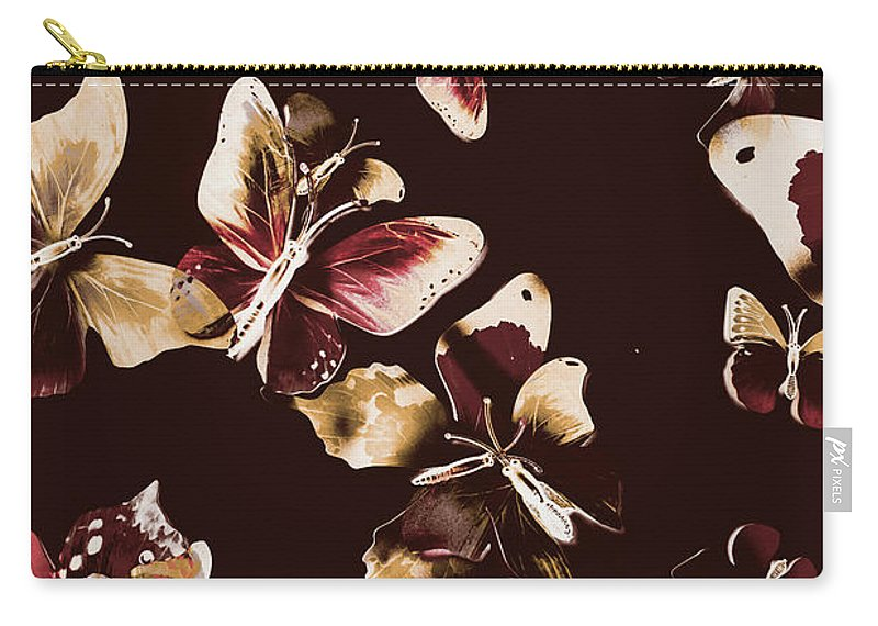 Butterfly Carry-all Pouch featuring the photograph Abstract Butterfly Fine Art by Jorgo Photography - Wall Art Gallery