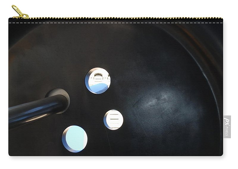 Button Carry-all Pouch featuring the photograph Abstract Button Holes by Rob Hans