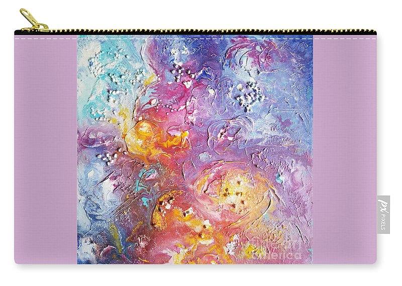 Impressionism Carry-all Pouch featuring the painting Abstract Clouds by Olga Malamud-Pavlovich