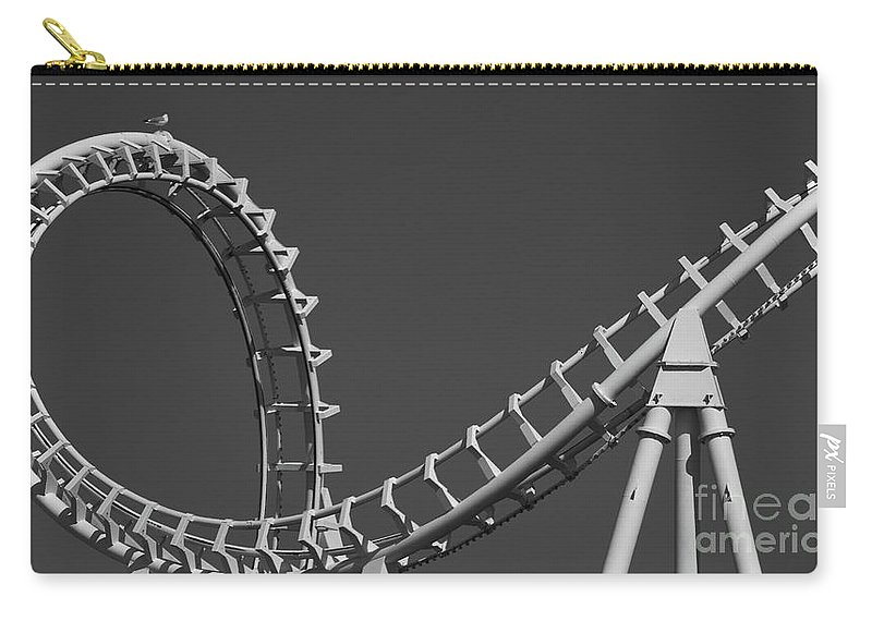 Abstract Carry-all Pouch featuring the photograph Abstract Coaster Panoramic by Tom Gari Gallery-Three-Photography