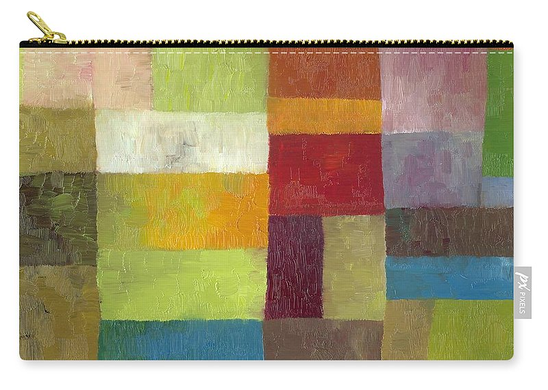 Abstract Carry-all Pouch featuring the painting Abstract Color Study lV by Michelle Calkins