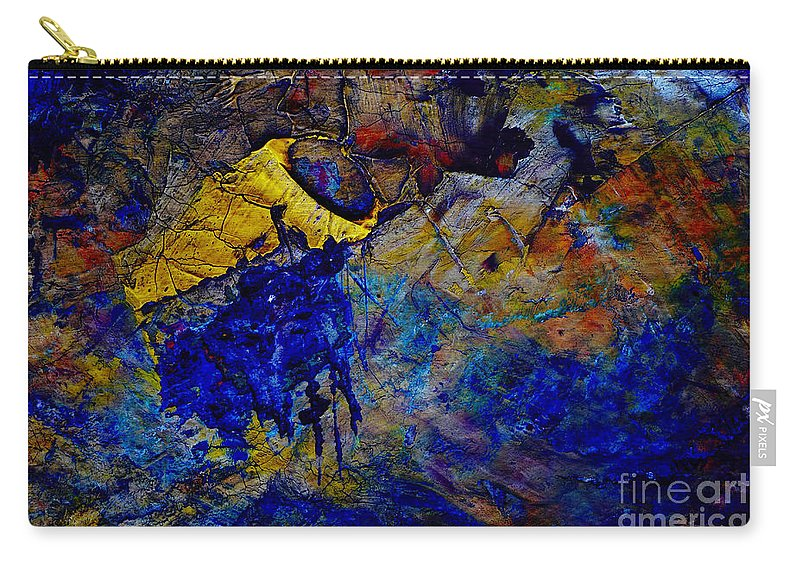 Abstract Carry-all Pouch featuring the painting Abstract Composition by Michal Boubin