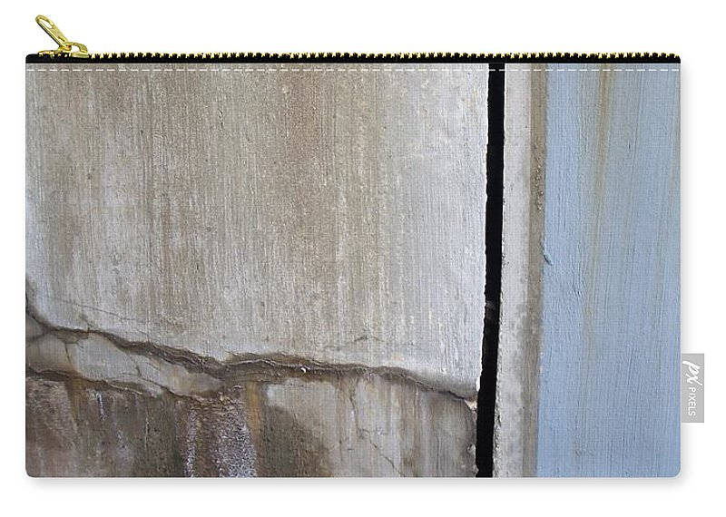 Industrial. Urban Carry-all Pouch featuring the photograph Abstract Concrete 1 by Anita Burgermeister