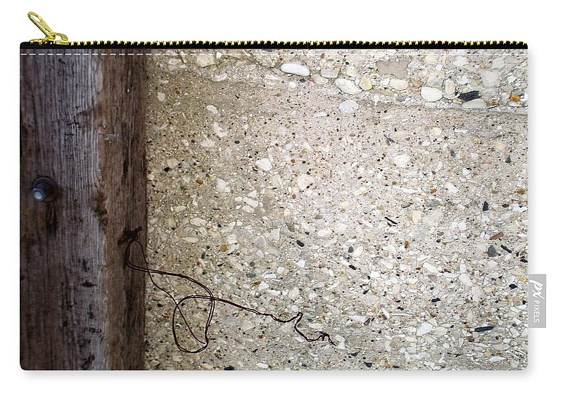 Industrial. Urban Carry-all Pouch featuring the photograph Abstract Concrete 12 by Anita Burgermeister