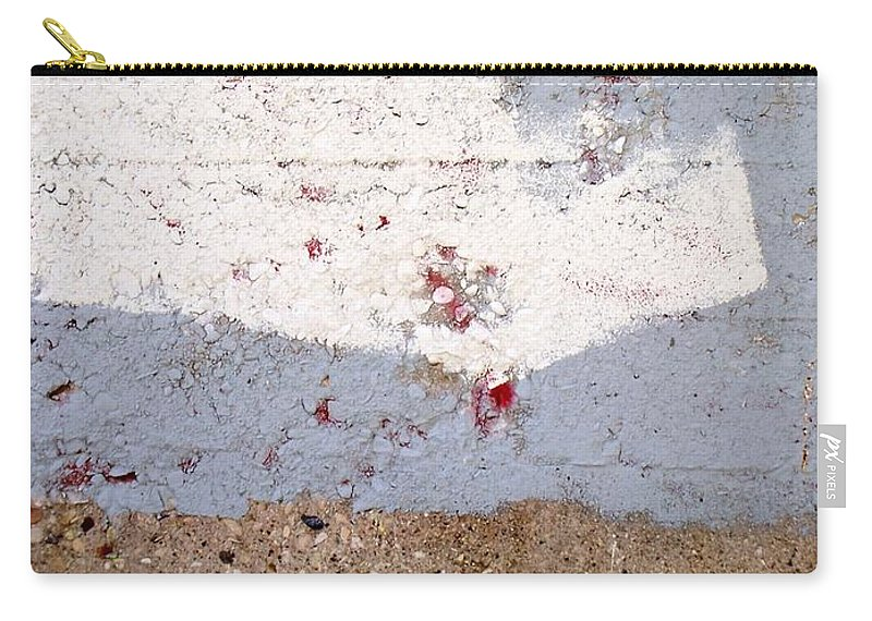 Industrial. Urban Carry-all Pouch featuring the photograph Abstract Concrete 13 by Anita Burgermeister