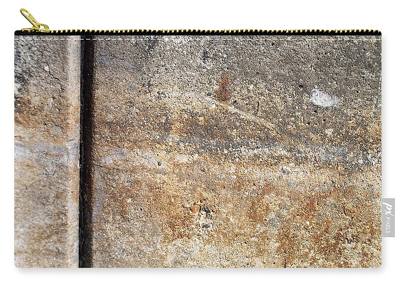 Industrial. Urban Carry-all Pouch featuring the photograph Abstract Concrete 17 by Anita Burgermeister