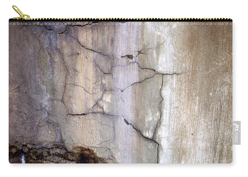 Industrial. Urban Carry-all Pouch featuring the photograph Abstract Concrete 2 by Anita Burgermeister