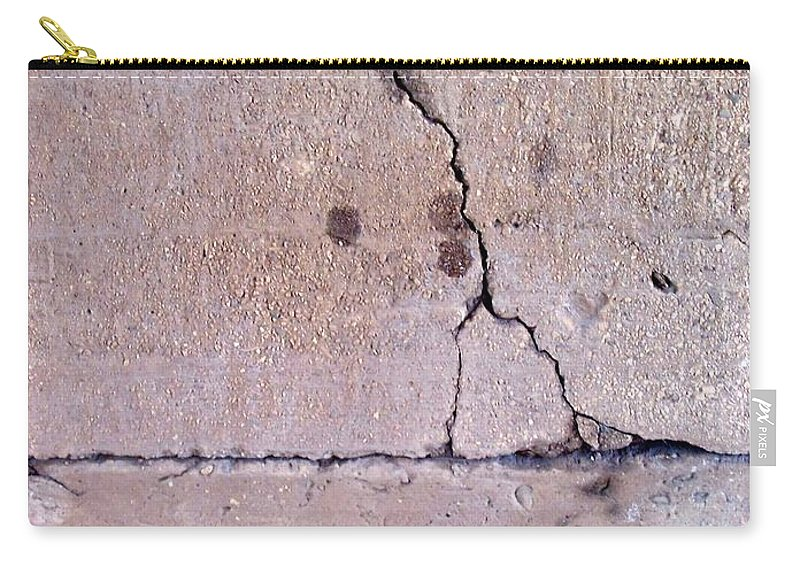 Industrial. Urban Carry-all Pouch featuring the photograph Abstract Concrete 3 by Anita Burgermeister