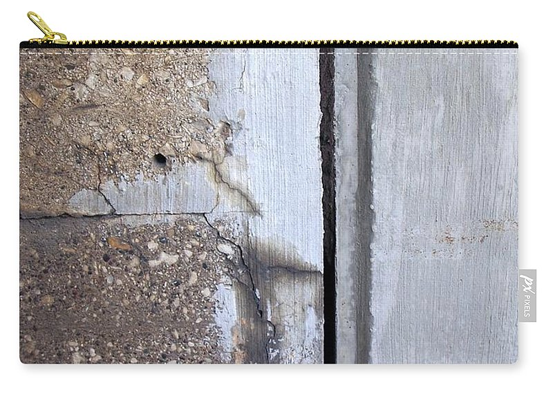 Industrial. Urban Carry-all Pouch featuring the photograph Abstract Concrete 5 by Anita Burgermeister