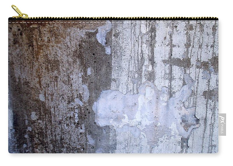 Industrial. Urban Carry-all Pouch featuring the photograph Abstract Concrete 8 by Anita Burgermeister