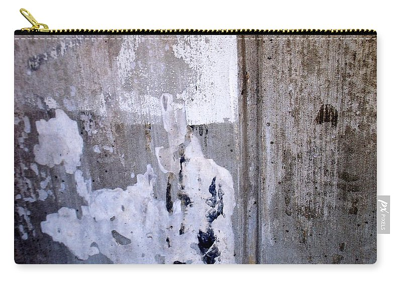Industrial. Urban Carry-all Pouch featuring the photograph Abstract Concrete 9 by Anita Burgermeister