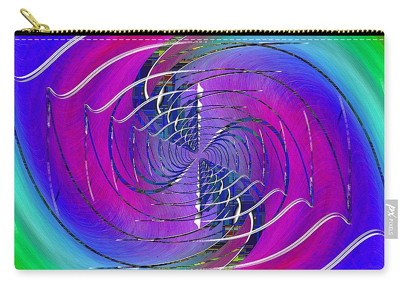 Abstract Carry-all Pouch featuring the digital art Abstract Cubed 262 by Tim Allen