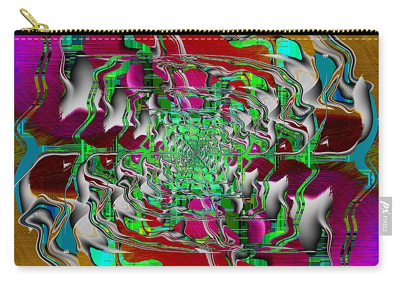 Abstract Carry-all Pouch featuring the digital art Abstract Cubed 275 by Tim Allen