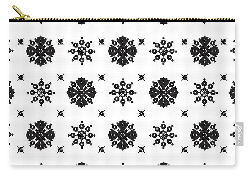 Pattern Carry-all Pouch featuring the digital art Abstract Ethnic Seamless Floral Pattern Design by Svetlana Corghencea