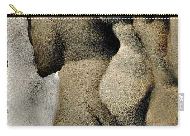 Abstract Carry-all Pouch featuring the photograph Abstract Female Figure In Grey by Hana Shalom
