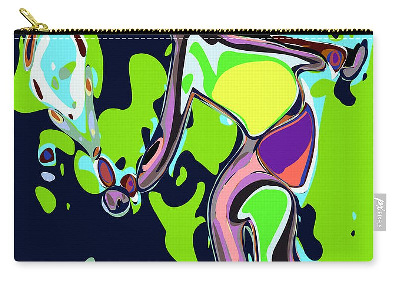 Tennis Carry-all Pouch featuring the digital art Abstract Female Tennis Player 2 by Chris Butler