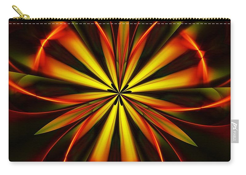 Fine Art Carry-all Pouch featuring the digital art Abstract Floral 032811 by David Lane