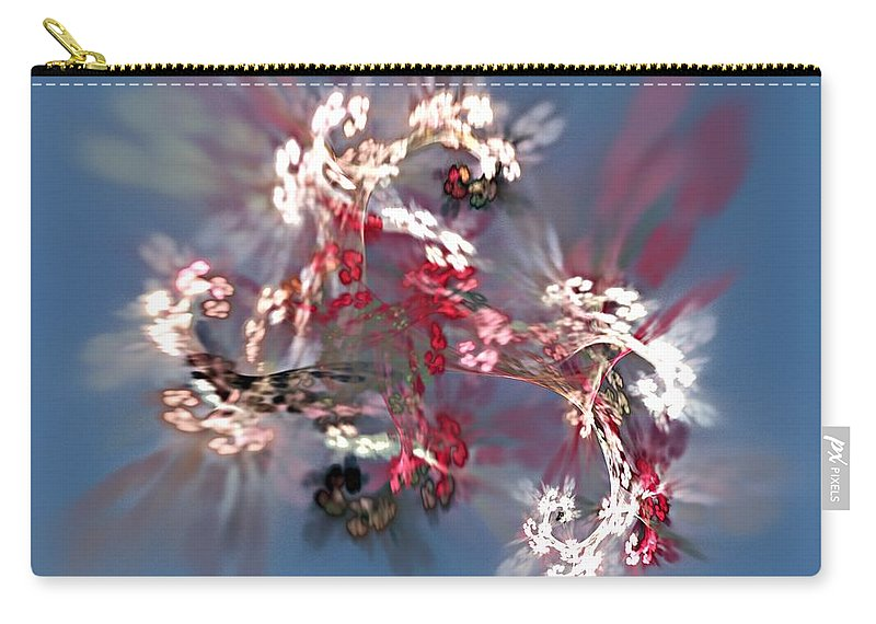 Floral Carry-all Pouch featuring the digital art Abstract Floral Fantasy by David Lane
