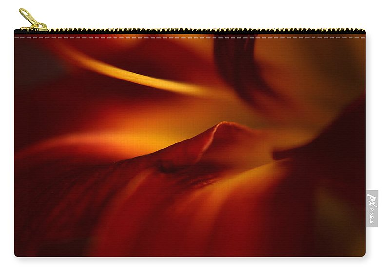 Floral Carry-all Pouch featuring the photograph Abstract Floral by Floyd Menezes