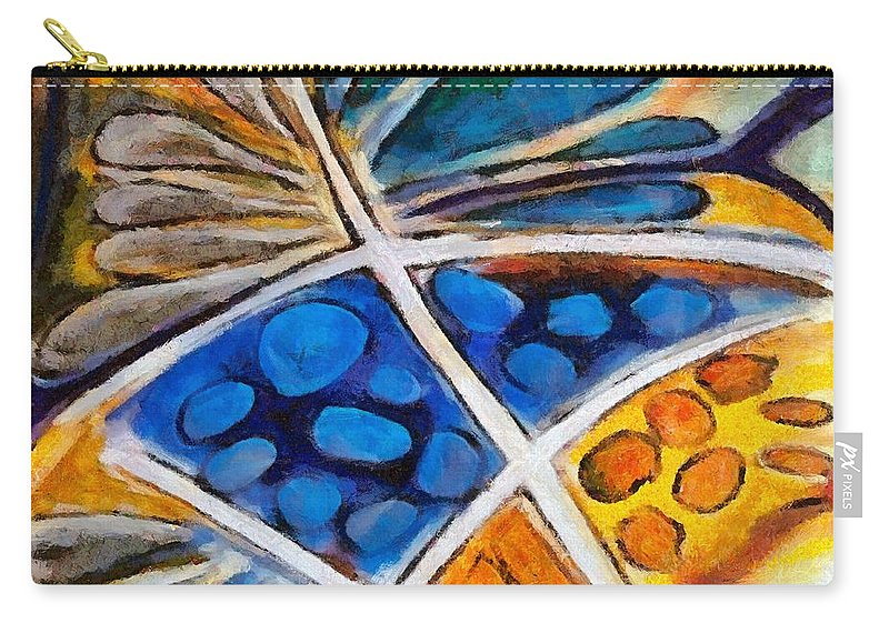 Flower Carry-all Pouch featuring the painting Abstract Flower by Dragica Micki Fortuna