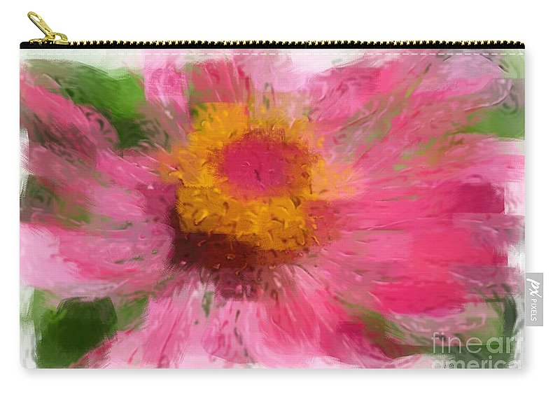 Robyn King Carry-all Pouch featuring the photograph Abstract Flower Expressions by Robyn King